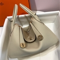 Classic Fresh Hermes Crossbody Genuine Leather Bags Womens Shoulder Fashion Zipper Hasp Handbag - Beige