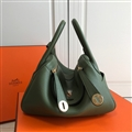 Classic Fresh Hermes Crossbody Genuine Leather Bags Womens Shoulder Fashion Zipper Hasp Handbag - Green