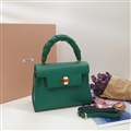 Classic Fresh MiuMiu Genuine Leather Bags Womens Fashion Ladies Hasp Top-Handle Shoulder - Green