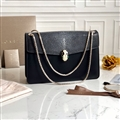 Fashion Bvlgari Shoulder Snake Genuine Leather Chains Bags Womens Zipper Bags Hasp - Black