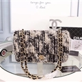 Fluffy Chanel CC Winter Beautiful Classic Elegant Top-handle Linen Leather Ladies Hasp Bags - Black