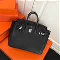 Fresh Hermes Genuine Leather Bags Womens Shoulder Fashion Ladies Hasp Handbag - Black