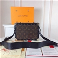 High Quality LV Flower Casual Genuine Leather Fashion Zipper Hasp Crossbody Shoulder Bags - Brown