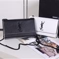 High Quality YSL Crossbody Genuine Leather Womens Chains Fashion Hasp Classic Bags - Black