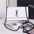 High Quality YSL Crossbody Genuine Leather Womens Chains Fashion Hasp Classic Bags - White