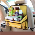 Brown Bear Table Multi-function Car Seat Back Hanging Pocket Thermal Insulation Storage Bag for Kid - Yellow