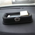 Cool Crown Leather Car Seat Front Storage Box Multi-Purpose Gap Store Box - Black