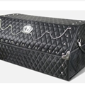 Crown 1pcs Crystals Auto Storage Trunk Leather Storage Box Rivets Auto Storage Bag - Black