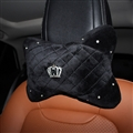 Crown Diamond Plush Car Neck Pillow Woman Universal Warm Headrest 1pcs - Black