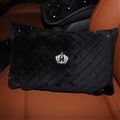 Crown Diamond Plush Car Waist Pillow Woman Universal Beautiful Cushions 1pcs - Black White