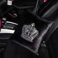 Crown Diamonds Plush Car Hold Pillow Woman Universal Beautiful Cushions 1pcs - Black