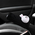 Cute Cony Rabbit Short Plush Car Handbrake Grips Cover Accessories Car Handbrake Cover - Black