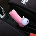 Cute Cony Rabbit Short Plush Car Handbrake Grips Cover Accessories Car Handbrake Cover - Pink