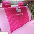 Cute Hello Kitty Polyester fabric Auto Cushion Universal Car Rear Back Seat Covers - Rose