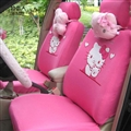 Cute Hello Kitty Polyester fabric Auto Cushion Universal Car Seat Covers 10pcs - Rose