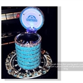 Doraemon Car Ashtray with Led Light Crystal Bling Bling Storage Cup Holder for Girls Woman - Blue