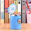 Doraemon Car Ashtray with Led Light Cute Nice Storage Cup Holder for Girls Woman - Blue