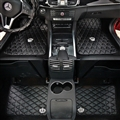 Fashion DAD Rivet Crown Leather Car Floor Front Rear Mats Universal Fit Mat for Car - Black