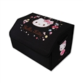 Hello Kitty 1pcs Collapsible High Quality Oxford Cloth Auto Storage Trunk Box Auto Storage Bag - Black Pink