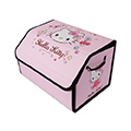 Hello Kitty 1pcs Collapsible High Quality Oxford Cloth Auto Storage Trunk Box Auto Storage Bag - Pink