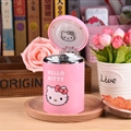 Hello Kitty Car Ashtray with Led Light Cute Nice Storage Cup Holder for Girls Woman - Pink
