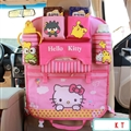 Hello Kitty Fold Multi-function Car Seat Back Hanging Pocket Thermal Insulation Storage Bag for Kid - Pink