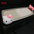 Hello Kitty Gorgeous Bling Bling Diamonds Crystal Car Rearview Mirror Auto Brilliant Rearview Mirror - White Pink