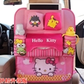 Hello Kitty Ipad Multi-function Car Seat Back Hanging Pocket Thermal Insulation Storage Bag for Kid - Pink