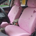 Lovely Hello Kitty Polyester fabric Auto Cushion Universal Car Seat Covers 10pcs - Pink