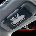Swan Bling Leather Automotive Tissue Paper Box Holder Case Sun Visor Hanging Tissue Bag - Black