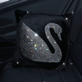 Swan Diamond Plush Auto Hold Pillow Woman Universal Beautiful Cushions 1pcs - Black