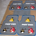 Angry Birds Universal Automotive Carpet Car Floor Mats Latex 5pcs Sets - Grey