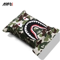 Bape Shark Cool Camouflage Genuine Leather Car Tissue Paper Boxs Holder for Car Home - Green