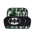 Batman General Camouflage Automotive Carpet Car Floor Mats Short Plush 2pcs Sets - Black Green