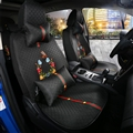 Beautiful Flax Fashion Gucci Flower Car Seat Covers Universal Pads Seat Cushions 11pcs - Black