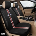 Beautiful Ice Silk Fashion Gucci Bee Car Seat Covers Universal Pads Seat Cushions 6pcs - Black