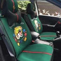 Beautiful Ice Silk Leather Gucci Tiger Car Seat Covers Universal Pads Seat Cushions 9pcs - Green