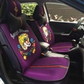 Beautiful Ice Silk Leather Gucci Tiger Car Seat Covers Universal Pads Seat Cushions 9pcs - Purple