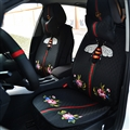 Beautiful Jacquard Flower Gucci Bee Car Seat Covers Universal Pads Seat Cushions 9pcs - Black