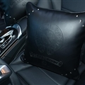 Brilliant Chrome Hearts Genuine Leather Alloy Rivet Car Back Seat Support Square Wasit Pillow - Black