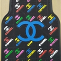 Classic Chanel Genenal Automotive Carpet Car Floor Mats Rubber 5pcs Sets - Black Colorful