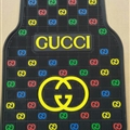 Classic Gucci Genenal Automotive Carpet Car Floor Mats Rubber 5pcs Sets - Black Colorful