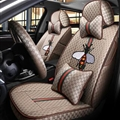 Cool Flax Fashion Gucci Bee Car Seat Covers Universal Pads Seat Cushions 11pcs - Coffee