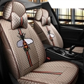 Cool Flax Fashion Gucci Bee Car Seat Covers Universal Pads Seat Cushions 8pcs - Coffee
