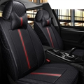 Cool Flax Fashion Gucci Car Seat Covers Universal Pads Seat Cushions 8pcs - Black