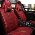 Cool Flax Fashion Gucci Car Seat Covers Universal Pads Seat Cushions 8pcs - Red