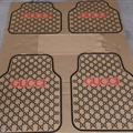 Cool Gucci Genenal Automotive Carpet Car Floor Mats Rubber 5pcs Sets - Black Beige