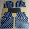 Cool Gucci Genenal Automotive Carpet Car Floor Mats Rubber 5pcs Sets - Black Blue