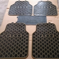 Cool Gucci Genenal Automotive Carpet Car Floor Mats Rubber 5pcs Sets - Black Brown