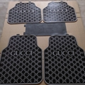 Cool Gucci Genenal Automotive Carpet Car Floor Mats Rubber 5pcs Sets - Black Grey